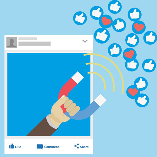 Illustration of a social media post outlining why influencer marketing is important