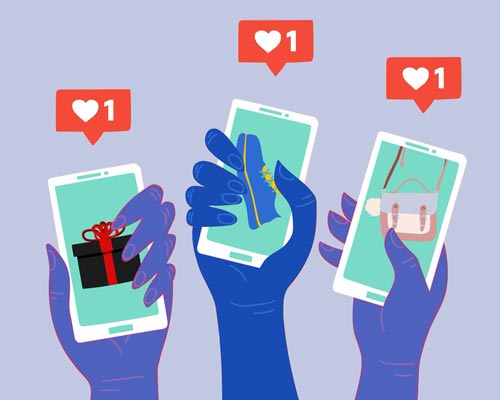 Illustration of mobile app usage to become Los Angeles micro influencers